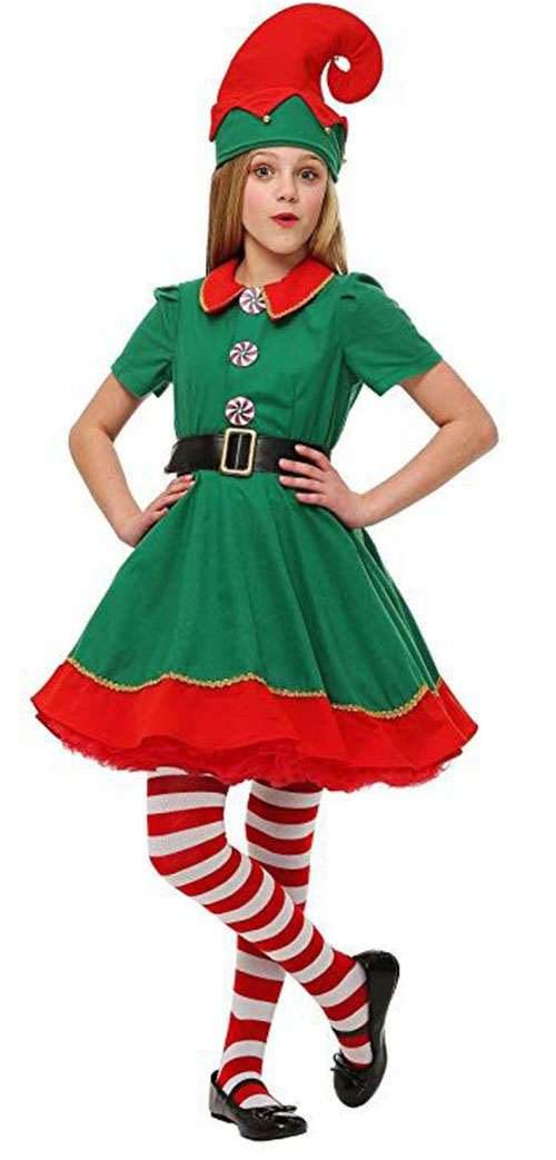 Christmas-Elf-Costumes-Outfits-For-Kids-Adults-2019-13