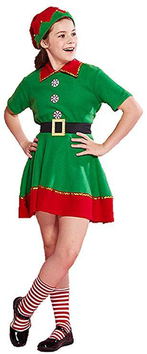 Christmas-Elf-Costumes-Outfits-For-Kids-Adults-2019-7