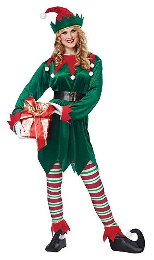 Christmas-Elf-Costumes-Outfits-For-Kids-Adults-2019-8