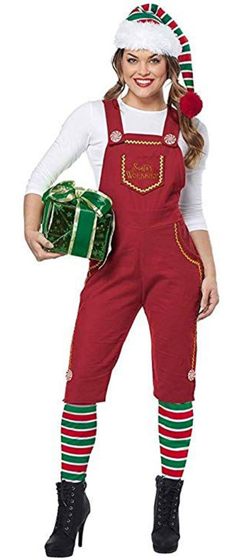 Christmas-Elf-Costumes-Outfits-For-Kids-Adults-2019-9