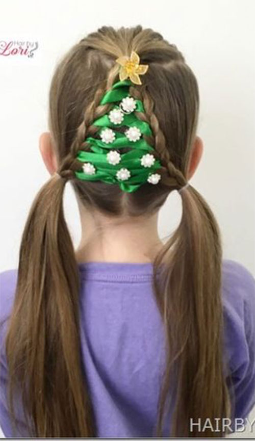 Christmas-Themed-Hairstyle-Ideas-For-Short-Long-Hair-2019-10
