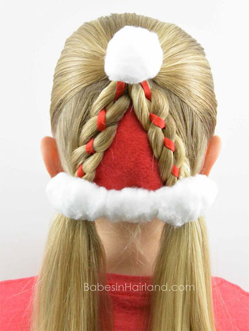 Christmas-Themed-Hairstyle-Ideas-For-Short-Long-Hair-2019-11