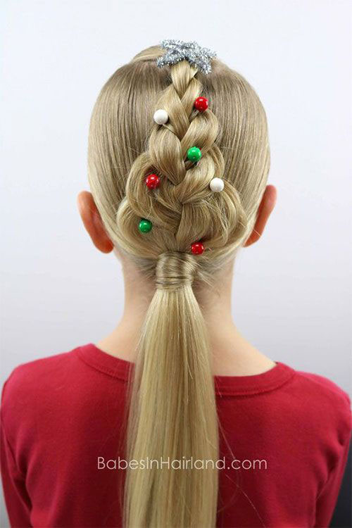 Christmas-Themed-Hairstyle-Ideas-For-Short-Long-Hair-2019-13