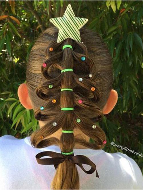 Christmas-Themed-Hairstyle-Ideas-For-Short-Long-Hair-2019-16