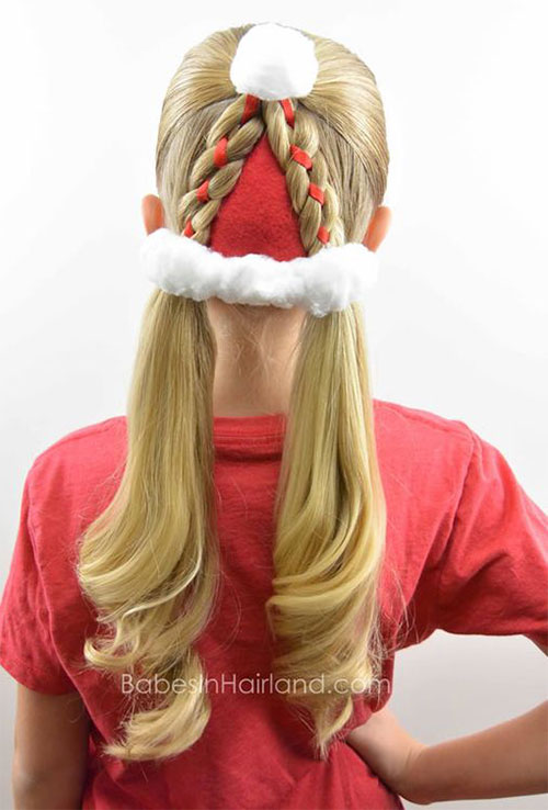 Christmas-Themed-Hairstyle-Ideas-For-Short-Long-Hair-2019-17