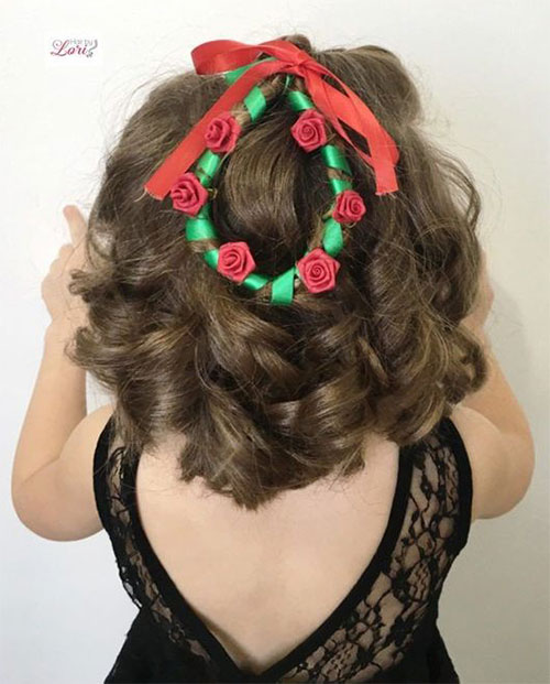 Christmas-Themed-Hairstyle-Ideas-For-Short-Long-Hair-2019-3