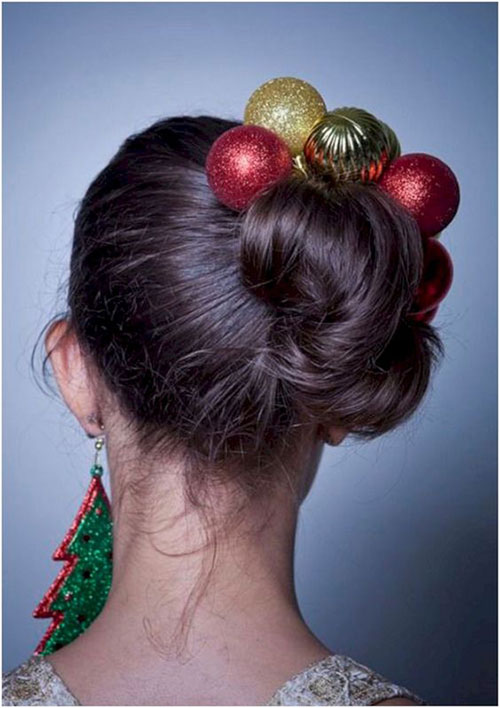 Christmas-Themed-Hairstyle-Ideas-For-Short-Long-Hair-2019-4