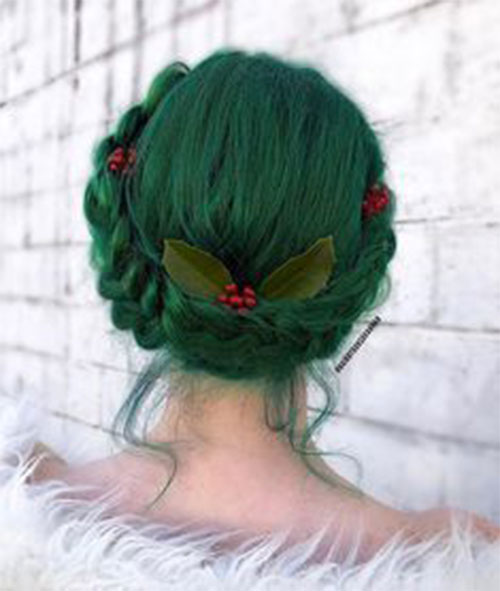 Christmas-Themed-Hairstyle-Ideas-For-Short-Long-Hair-2019-5