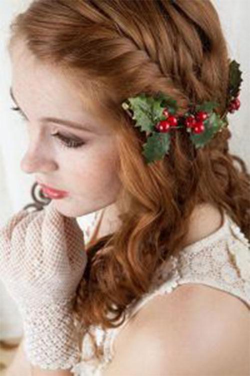 Christmas-Themed-Hairstyle-Ideas-For-Short-Long-Hair-2019-6