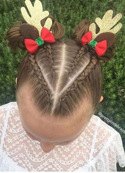 Christmas-Themed-Hairstyle-Ideas-For-Short-Long-Hair-2019-8