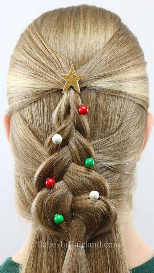 Christmas-Themed-Hairstyle-Ideas-For-Short-Long-Hair-2019-9