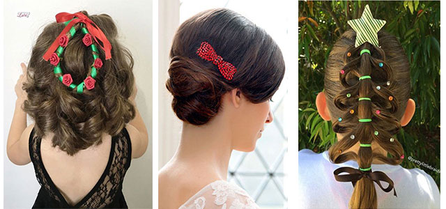 Christmas-Themed-Hairstyle-Ideas-For-Short-Long-Hair-2019-F