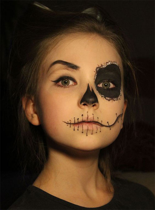 Easy-Halloween-Makeup-Looks-For-Kids-2020-15