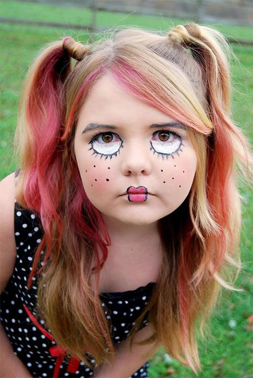 Easy-Halloween-Makeup-Looks-For-Kids-2020-3