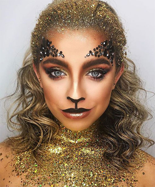 Glitter-Glam-Halloween-Makeup-Ideas-2020-3