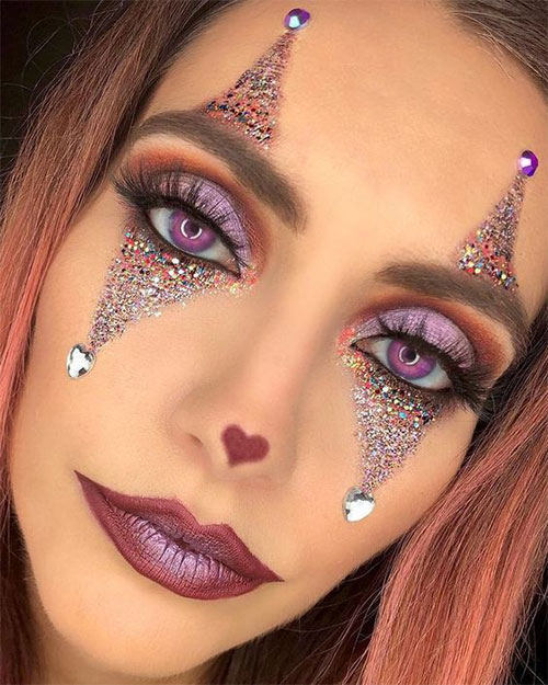 Glitter-Glam-Halloween-Makeup-Ideas-2020-5
