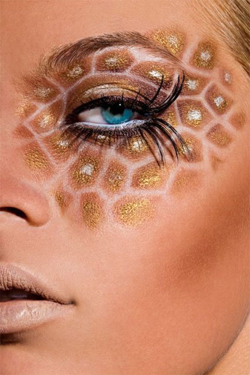 Glitter-Glam-Halloween-Makeup-Ideas-2020-6