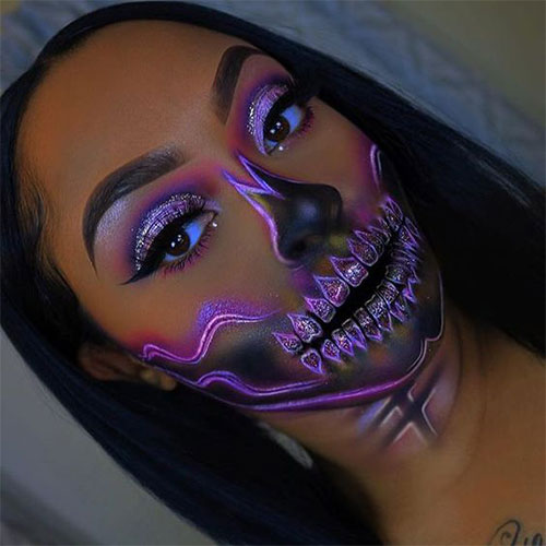 Glitter-Glam-Halloween-Makeup-Ideas-2020-7