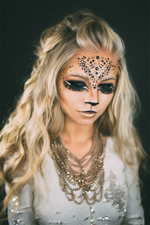 Glitter-Glam-Halloween-Makeup-Ideas-2020-9