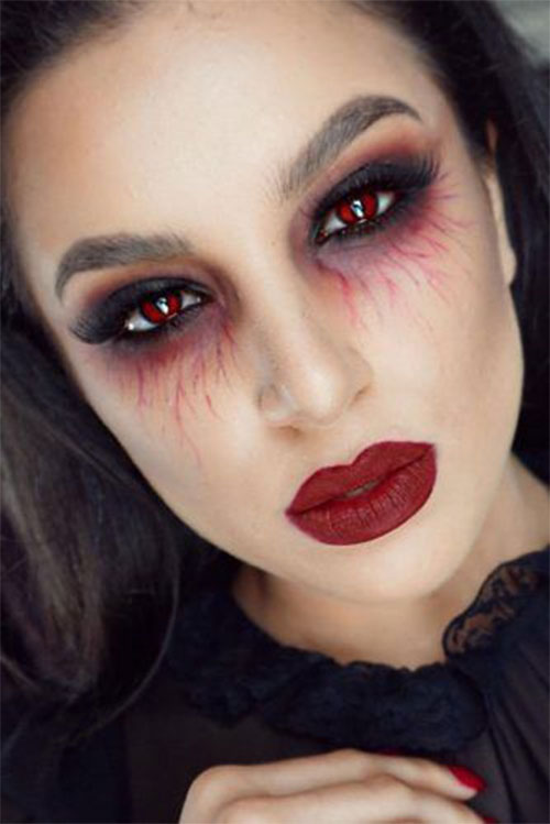 Simple-Easy-Last-Minute-Halloween-Makeup-Ideas-2020-7