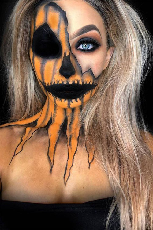 15-Scary-Pumpkin-Makeup-Looks-For-Halloween-2020-6