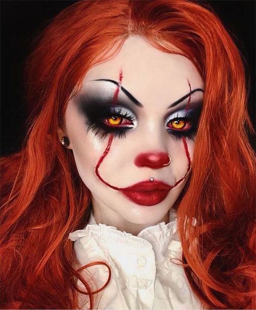 Halloween-Clown-Makeup-Looks-Ideas-2020-16