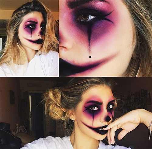 Halloween-Clown-Makeup-Looks-Ideas-2020-18