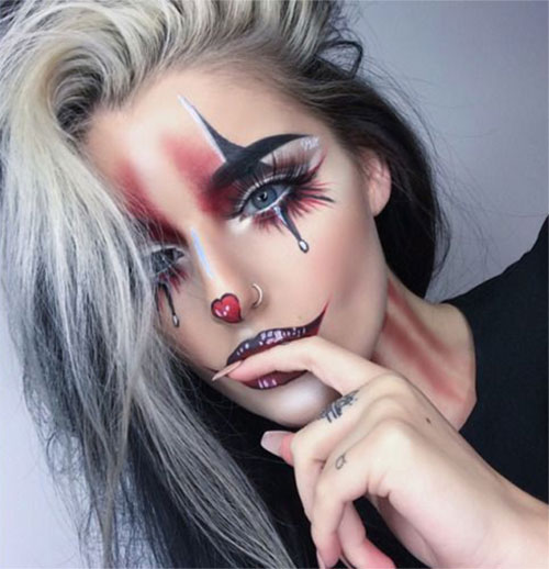 Halloween-Clown-Makeup-Looks-Ideas-2020-2