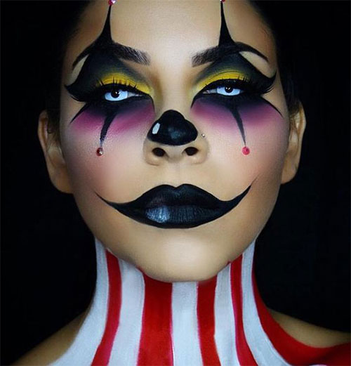 Halloween-Clown-Makeup-Looks-Ideas-2020-4
