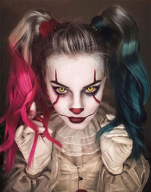 Halloween-Clown-Makeup-Looks-Ideas-2020-7