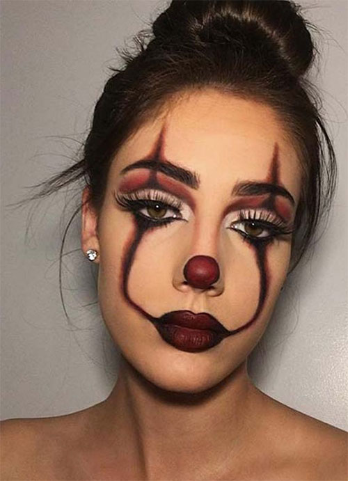 Halloween-Clown-Makeup-Looks-Ideas-2020-9