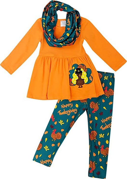 Best-Happy-Thanksgiving-Outfit-For-Kids-Girls-2020-12