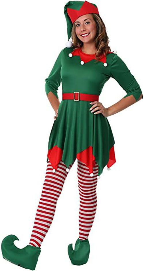 Christmas-Elf-Costumes-Outfits-For-Kids-Adults-2020-13