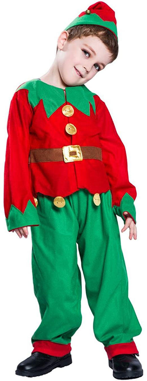 Christmas-Elf-Costumes-Outfits-For-Kids-Adults-2020-7