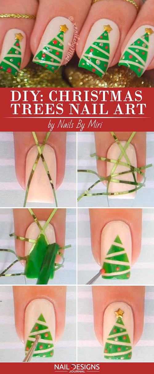 Christmas-Nail-Art-Tutorials-For-Beginners-Learners-2020-3