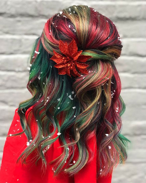 Christmas-Themed-Hairstyle-Ideas-For-Short-Long-Hair-2020-5