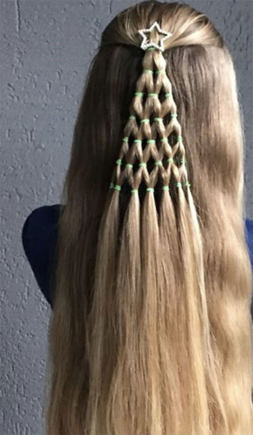 Christmas-Themed-Hairstyle-Ideas-For-Short-Long-Hair-2020-9