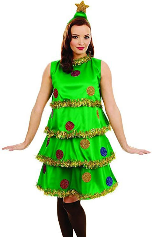 Christmas-Tree-Costumes-Outfits-For-Kids-Adults-2020-9