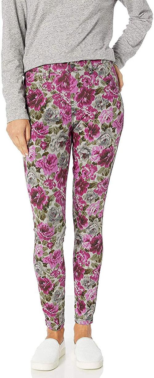 Floral-Print-Pants-For-Girls-Women-2021-Spring-Fashion-3