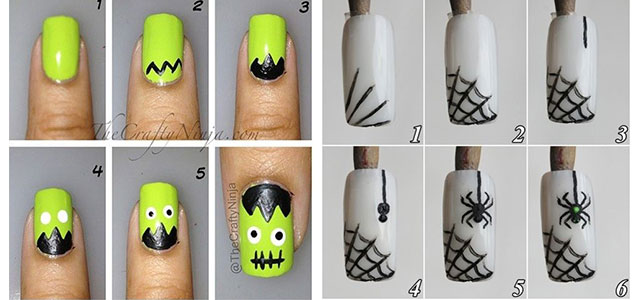 Step-By-Step-Halloween-Nail-Art-Tutorials-For-Learners-2021-F