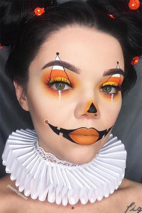 Candy-Corn-Halloween-Makeup-Ideas-2021-11