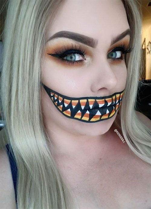 Candy-Corn-Halloween-Makeup-Ideas-2021-14