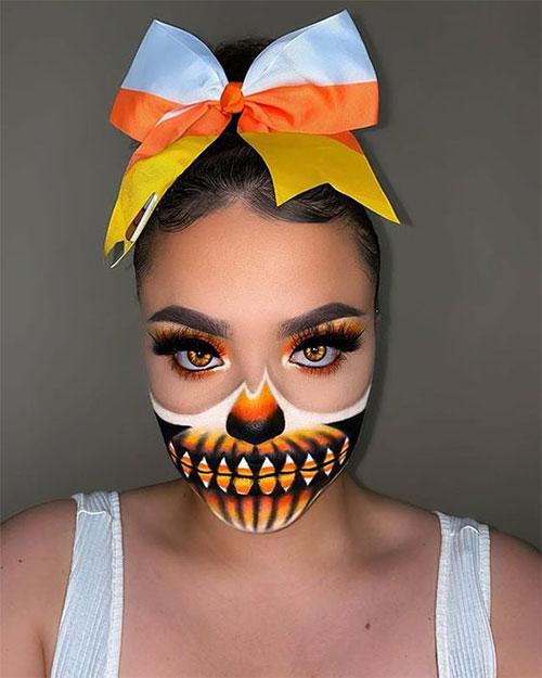 Candy-Corn-Halloween-Makeup-Ideas-2021-15