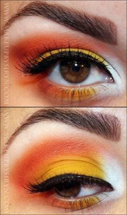 Candy-Corn-Halloween-Makeup-Ideas-2021-4