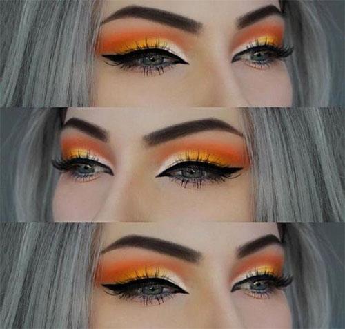 Candy-Corn-Halloween-Makeup-Ideas-2021-5