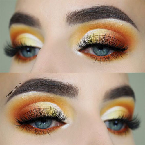 Candy-Corn-Halloween-Makeup-Ideas-2021-7