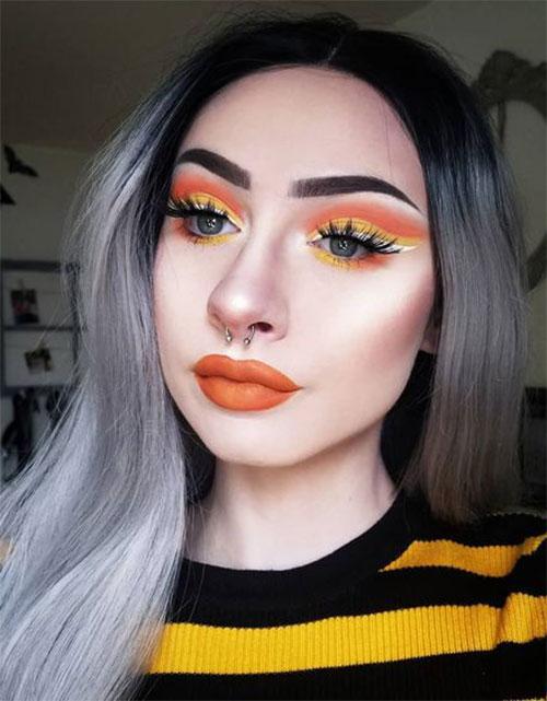 Candy-Corn-Halloween-Makeup-Ideas-2021-9