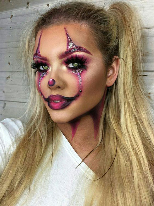 Creepy-Clown-Halloween-Makeup-Looks-2021-12