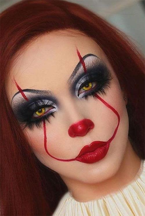 Creepy-Clown-Halloween-Makeup-Looks-2021-13