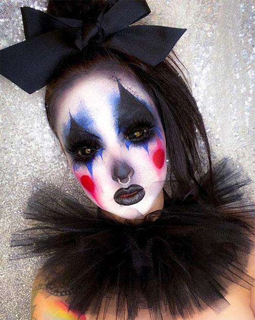 Creepy-Clown-Halloween-Makeup-Looks-2021-14